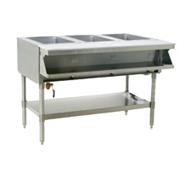 """Eagle Group SHT3-240 Electric Hot Food Steam Table with (3) 12"""" x 20"""" Sealed Wells and Infinite Controls, 240 Volts"""