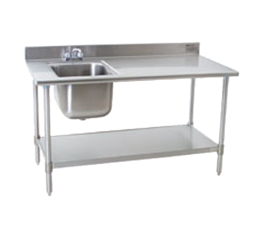Eagle Group Group T3072SEB-BS-E23R-X Deluxe Work Table with Sink