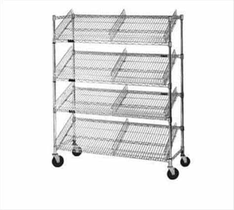 Eagle Group M1824V-4 Angled Shelf/Visual Merchandising Cart