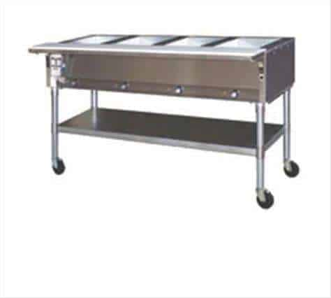 "Eagle Group SPDHT2-240 Electric Hot Food Steam Table with (2) 12"" x 20"" (Dry) Wells and Infinite Controls, 240 Volts"