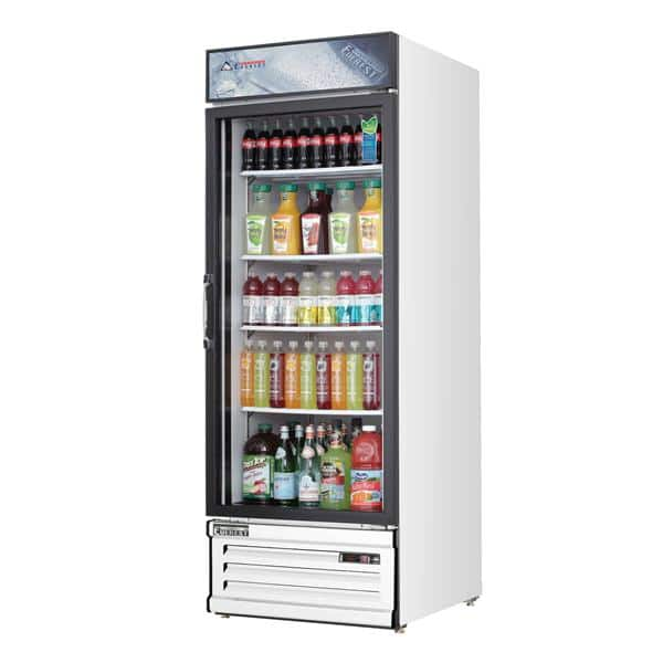 Everest Refrigeration Everest Refrigeration EMGR24 28.38'' White 1 Section Swing Refrigerated Glass Door Merchandiser