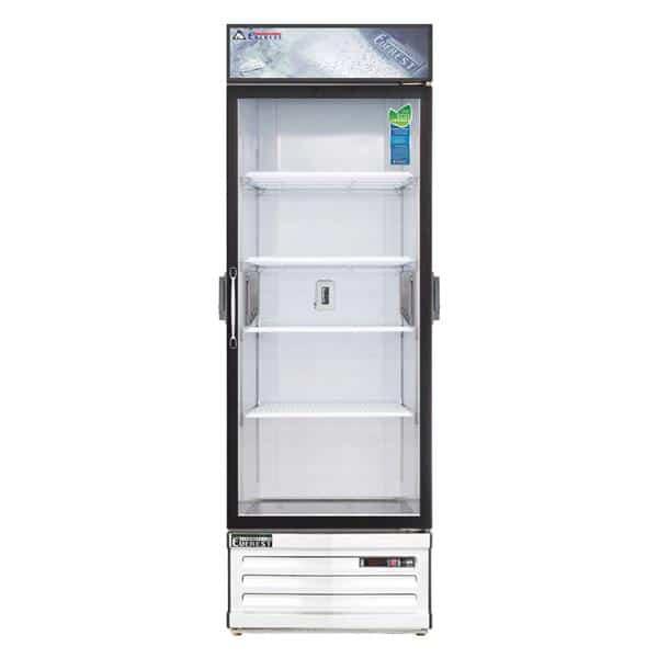 Everest Refrigeration EMGR24C 28.38'' White 1 Section Swing Refrigerated Glass Door Merchandiser