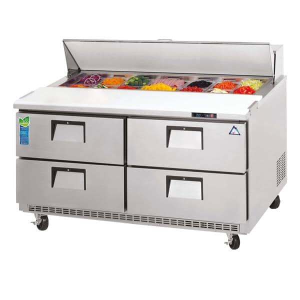 Everest Refrigeration Refrigeration EPBNR2-D4 Drawered Sandwich Prep Table