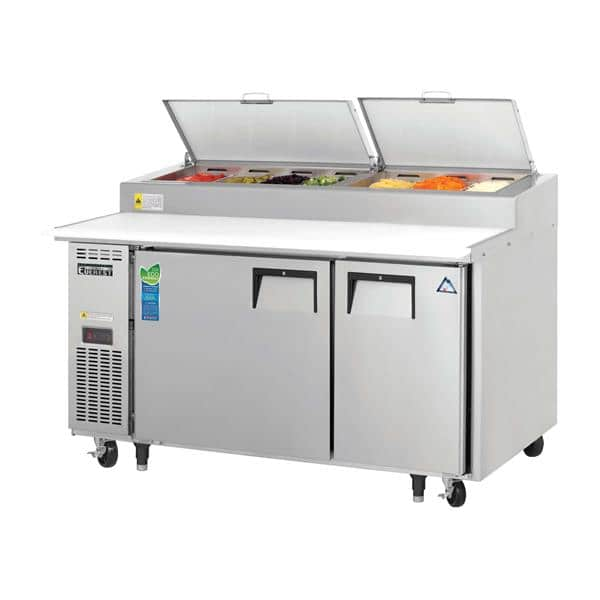 Everest Refrigeration Everest Refrigeration EPPSR2 59.13'' 2 Door Counter Height Refrigerated Pizza Prep Table