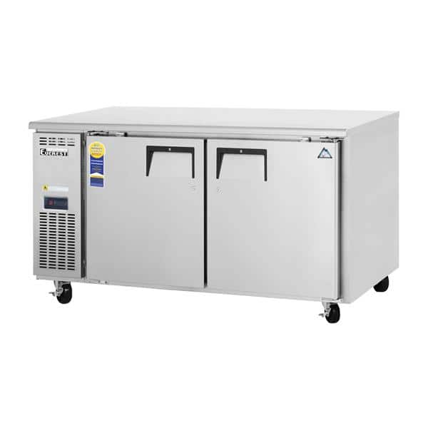 Everest Refrigeration ETWF2 59.25'' 2 Section Undercounter Freezer with 2 Left/Right Hinged Solid Doors and Front Breathing Compressor