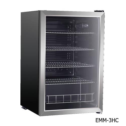 Excellence EMM-4HC Countertop Beverage & Food Cooler - Stainless Door