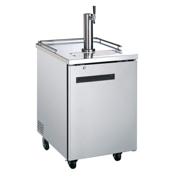Falcon Falcon ADD-1SS 1 Tap 1/2 Barrel Draft Beer Cooler - Stainless Steel, 1 Keg Capacity, 115-120 Volts