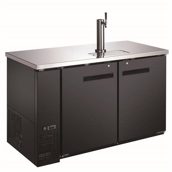 Falcon ADD-2 2 Taps 1/2 Barrel Draft Beer Cooler - Black, 2 Kegs Capacity, 115-120 Volts