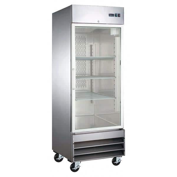 Falcon AR-23G 29'' 20.6 cu. ft. Bottom Mounted 1 Section Glass Door Reach-In Refrigerator