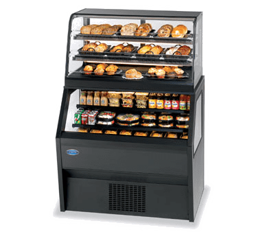 Federal Industries CD3628/RSS3SC Specialty Display Hybrid Merchandiser Refrigerated Self-Serve Bottom With Non-Refrigerated Service Top