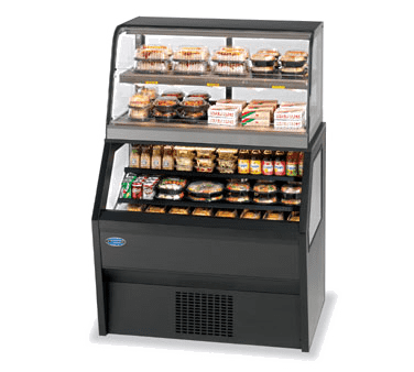 Federal Industries CH3628/RSS3SC Specialty Display Hybrid Merchandiser Refrigerated Self-Serve Bottom With Hot Service Top