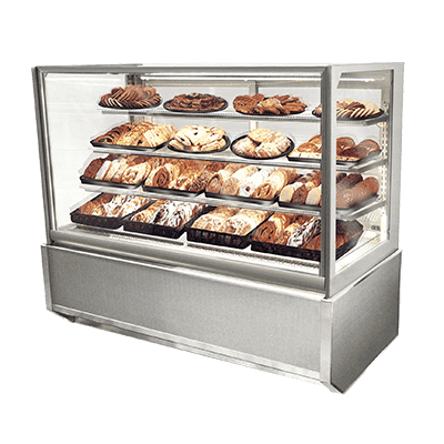 Federal Industries ITD6034-B18 Italian Glass Non-Refrigerated Display Cases