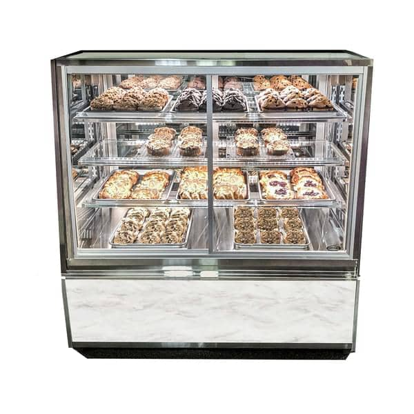 Federal Industries ITDSS4826-B18 Italian Glass Non-Refrigerated Display Case