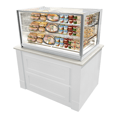federal industries itr3626 italian glass counter display case