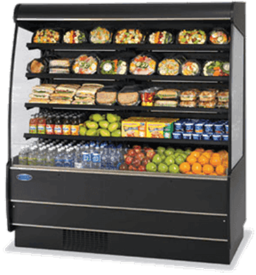 Federal Industries RSSM-578SC Specialty Display High Profile Self-Serve Refrigerated Merchandiser