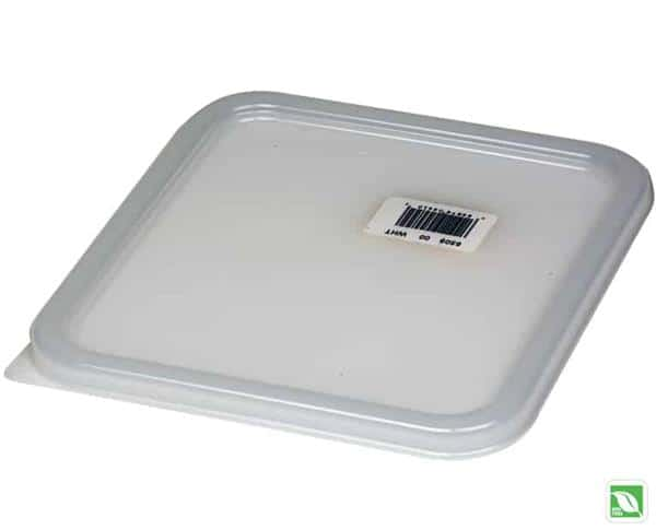 RJ Schinner FG650900WHT Rubbermaid Square Space Saving Container Lid White 2-8 Quart