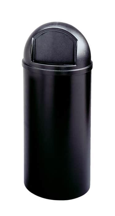 RJ Schinner FG816088BLA-EA Rubbermaid Marshal Classic Round Container Black 56.8L / 15 Gallon