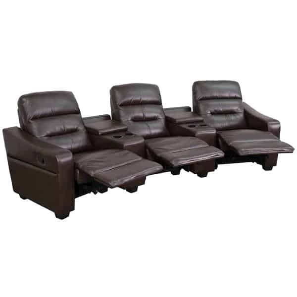 Flash Furniture BT-70380-3-BRN-GG Futura Series Theater Seating Unit