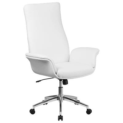 Flash Furniture BT-88-WH-GG Executive Swivel Office Chair