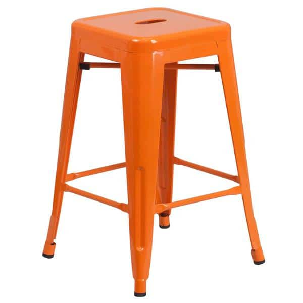 Flash Furniture CH-31320-24-OR-GG Bar Stool