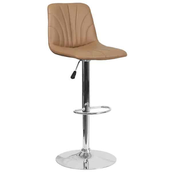 Flash Furniture DS-8220-CAP-GG Swivel Bar Stool