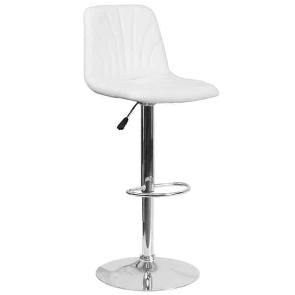 Flash Furniture DS-8220-WH-GG Swivel Bar Stool