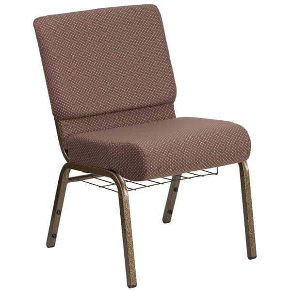 Flash Furniture FD-CH0221-4-GV-BNDOT-BAS-GG Hercules Series Extra Wide Stacking Church Chair