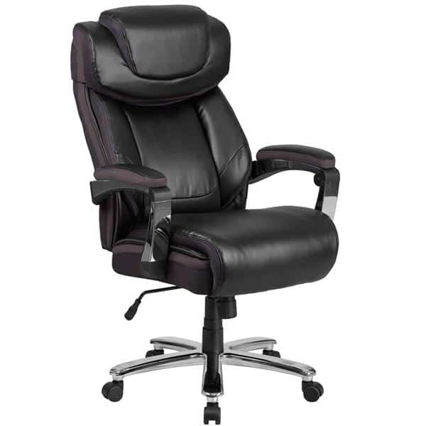 Flash Furniture GO-2223-BK-GG Hercules Series Big & Tall Executive Swivel