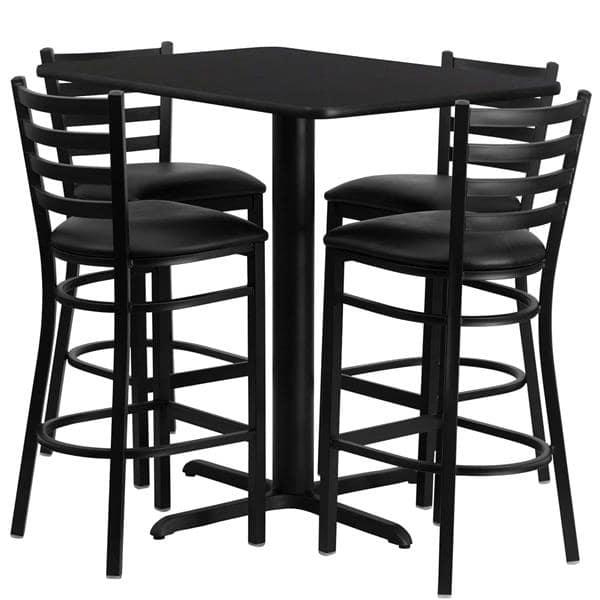 Flash Furniture HDBF1017-GG Table and Bar Stool Set