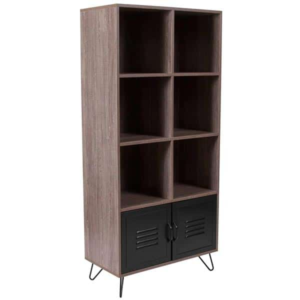 Flash Furniture NAN-JN-21735BF-GG Woodridge Collection Storage Shelf