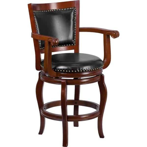Flash Furniture TA-2125-24-CHY-GG Swivel Bar Stool