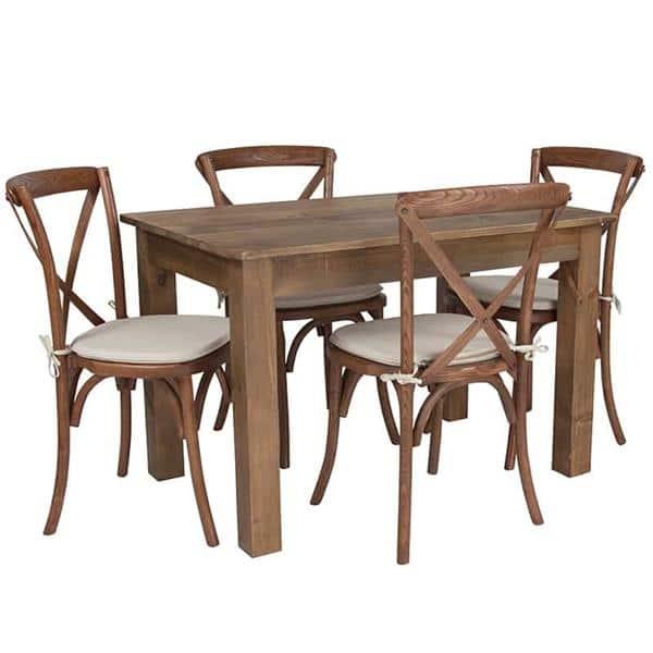 Flash Furniture XA-FARM-17-GG Farm Table and Chair Set