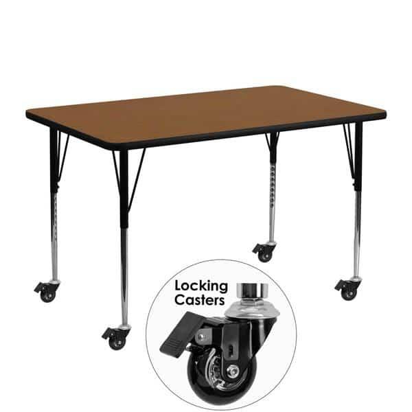 Flash Furniture XU-A2448-REC-OAK-H-A-CAS-GG Activity Table