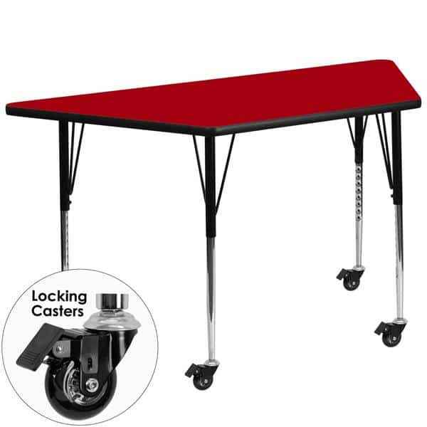 Flash Furniture XU-A3060-TRAP-RED-T-A-CAS-GG Activity Table