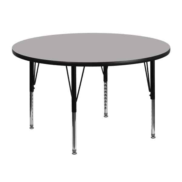 Flash Furniture XU-A48-RND-GY-T-P-GG Activity Table