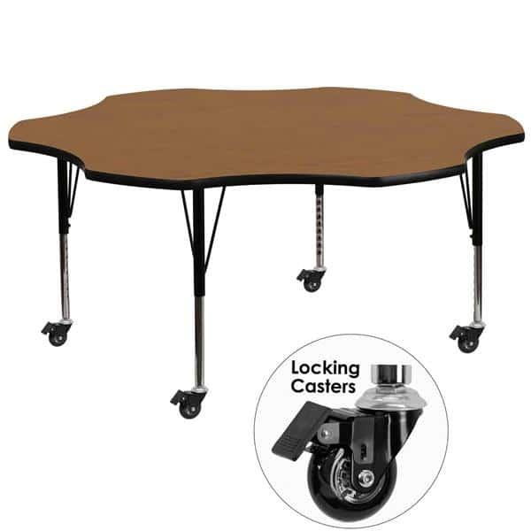 Flash Furniture XU-A60-FLR-OAK-T-P-CAS-GG Activity Table
