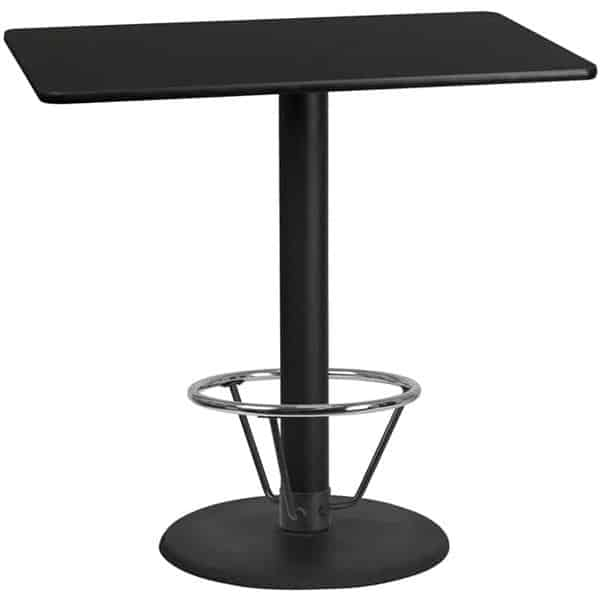 Flash Furniture XU-BLKTB-3048-TR24B-4CFR-GG Table