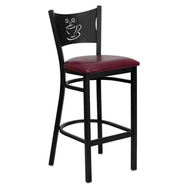 Flash Furniture XU-DG-60114-COF-BAR-BURV-GG Hercules Series Restaurant Bar Stool