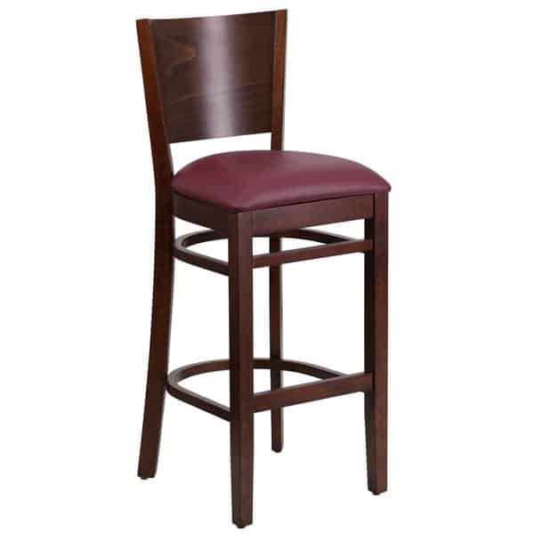 Flash Furniture XU-DG-W0094BAR-WAL-BURV-GG Lacey Series Restaurant Bar Stool