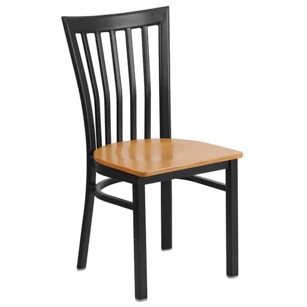 Flash Furniture XU-DG6Q4BSCH-NATW-GG Hercules Series Restaurant Chair