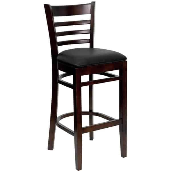 Flash Furniture XU-DGW0005BARLAD-WAL-BLKV-GG Hercules Series Restaurant Bar Stool