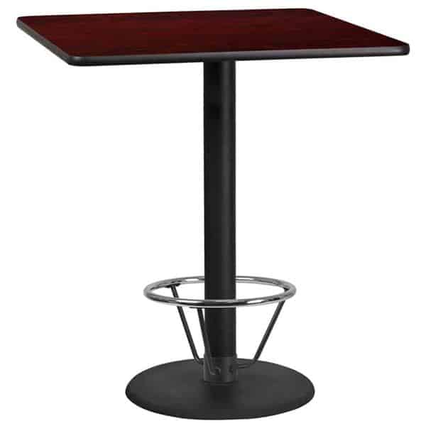 Flash Furniture XU-MAHTB-3636-TR24B-4CFR-GG Table