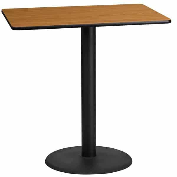 Flash Furniture XU-NATTB-2442-TR24B-GG Table