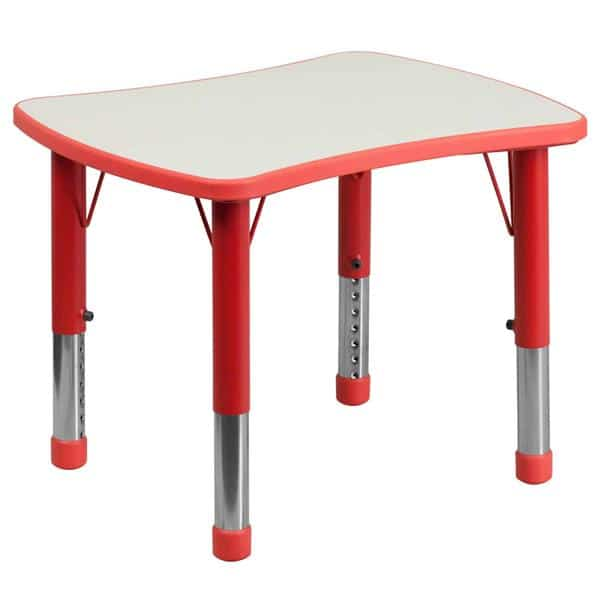 Flash Furniture YU-YCY-098-RECT-TBL-RED-GG Preschool Activity Table