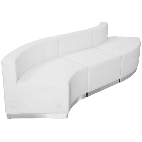 Flash Furniture ZB-803-830-SET-WH-GG Hercules Alon Series Reception Configuration