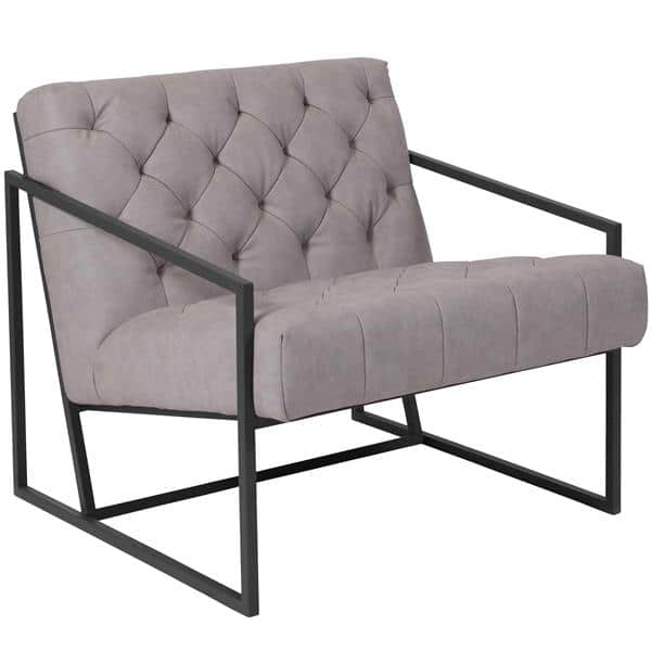 Flash Furniture ZB-8522-WH-GG Hercules Madison Series Lounge Chair