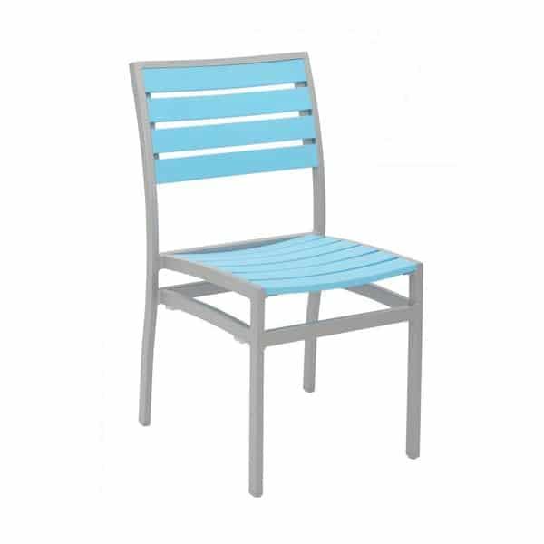 Florida Seating AL-5602-0 SILVER/ BLUE Side Chair