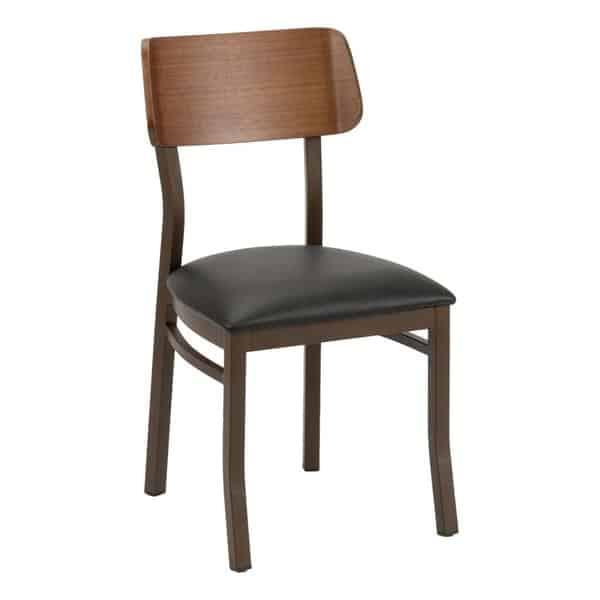 Florida Seating MET-40S BROWN/ WALNUT GR1 Side Chair