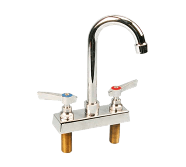 "FMP 107-1089 Commercial-Duty 4"" Center Gooseneck Faucet"