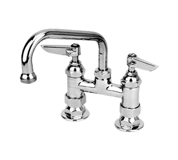 """FMP 110-1143 200 Series 4"""" Center Faucet by T&S Brass 6"""" spout"""